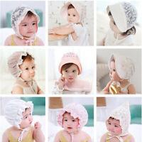Spring Summer Princess Baby Bow Lace Cap Toddler Kids Beach Bucket Sun Cute Hat
