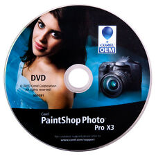Corel OEM Software DVD PaintShop Photo Pro X3 Photo Editing Software NEW