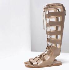 RARE! NWT Authentic ZARA Leather Roman Sandal Size US 6.5/ EU 37/UK 4 Gladiators
