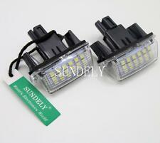 2Pcs License Plate LED Light Lamp Pair For Toyota Camry Prius C Yaris