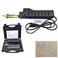 Car Auto Body Bumper HOT STAPLE GUN Plastic Welding Welder Dent Repair Tool Kit