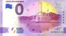 66 ARGELES-SUR-MER Poste de secours, N° de la 2ème, 2021, Billet Euro Souvenir