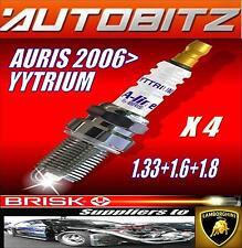 Si adatta TOYOTA AURIS 1.33 1.6 1.8 2006 > Brisk Candele X4 Yytrium Spedizione veloce