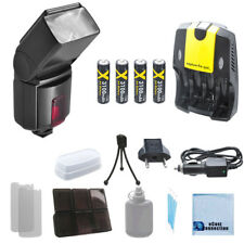 XIT XT500EX Flash, Rech Battery, Home/Car Charger for Canon T5 T5i SL1 10D 20D