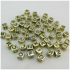 FC15C 2mm wide 50 x Square Mixed Alphabet Beads approx 3mm hole
