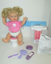 Fisher Price Little Mommy Gotta go Potty doll bathroom sounds toilet sink lot
