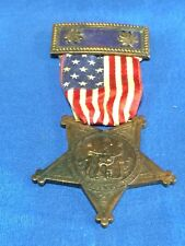 19995 Vintage Civil War  Medal ~ Numbered ~ GAR Ribbon w Rank Bar