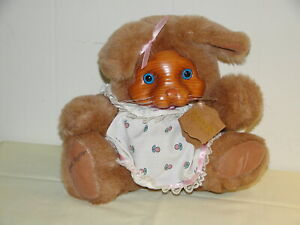 Vintage Ashley Robert Raikes Wood Face Bunny by Applause 1988 7in