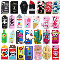 For Apple iPhone 5 6 6s 7 7 Plus 3D Cute Cartoon Silicone Rubber Soft Case Cover