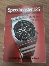 Omega operating instructions speedmaster 125 St 378.801 circa 70'