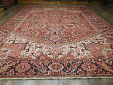 C1930 Veg Dy Antique Karache Serapi Heriz Viss 8.7x11 Estate Sale Rug