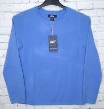 NWT Lands End Sz Small 6-8 Blue Cashmere Crew Neck Sweater Long Sleeve