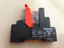 WEIDMULLERRCI484AC4Relay 24VDC 2 CO contacts with test button + Base