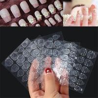 5 Sheets 60 PCS Double Sided False Nail Art Adhesive Tape Glue Clear Sticker DIY