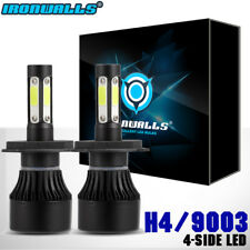 H4 HB2 9003 1400W 4Side LED Headlight Dual Hi/Lo beam Conversion Kit 6000K Bulbs