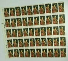 1968 Christmas Van Eyck National Gallery of Art 6 cent Stamp Sheet of 50 Mint