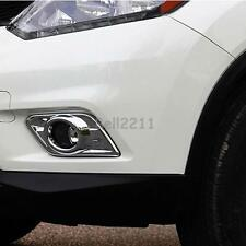 For Nissan X-Trail Rogue 2014-2016 Chrome Front Head Fog Light Lamp Cover Trim