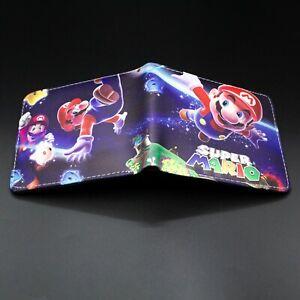 Cute Super Mario Bros Purse Short Bifold Fashion Leather Wallet S3