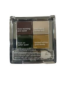 Clinique Eyeshadow All About Shadow Quad Morning Java Sand Dunes Gold Safari New
