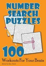 Number Search Puzzles: 100 Workouts for Your Brain: By Steele, Kim