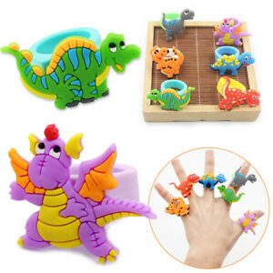 2/10pcs Dinosaur Rubber Rings Party Bag Fillers Kids Birthday Wedding Favors Toy