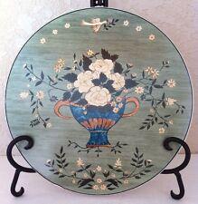 "Sakura BRANDON ROSE Blue Basket Wall Hanging Art PLATE PLAQUE TRIVIT 9+"""