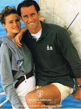 PUBLICITE ADVERTISING 045  1993  DONALDSON  pret à porter WALT DISNEY polo pull