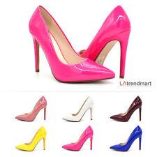 Women Pointy Toe Pump Stiletto High Heel Slip On Party Wedding Office Scheme