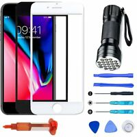 For iPhone 7 8 Plus Front Touch Screen Glass Lens Replacement / Tools Repair Kit