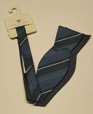 Ryan Seacrest Bow Tie Gray Blue Striped New