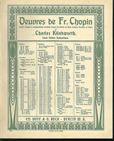 "Chopin "" Scherzo Op. 31 in B moll , übergroße, alte Noten"