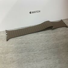 Genuine Apple 42/44mm Leather Loop - Medium - Light Brown