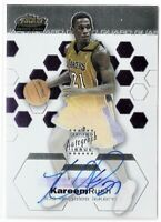 Kareem Rush /999 2002-03 Topps Finest Rookie RC ON CARD AUTO AUTOGRAPH LA LAKERS