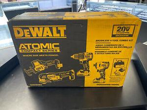 NEW DeWalt DCK489D2 ATOMIC 20V MAX BL Li-Ion 4-Tool Combo Kit