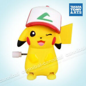 ~ POKEMON - white knob windup walker - Takara Tomy gashapon - wind up PIKACHU (a