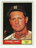 SIGNED 1961 Topps #243 Frank Lary Detroit Tigers ExMt Auto autograph.