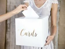 Gold Wedding Card Post Card Box Collection Gift Card Boxes Weddings Decor