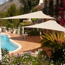 Waterproof Beige Right Triangle Sun Shade Sail Outdoor Canopy Awning Patio Pool
