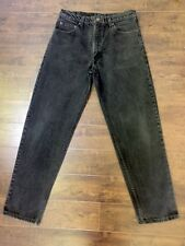 Men's Levi's 550 Relaxed Fit Tapered Leg Black Jeans Size 36 X 32 IRREGULAR