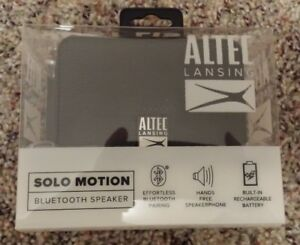 New Sealed Altec Lansing Solo Motion Bluetooth Speakers Black Fast Free Shipping