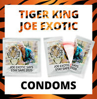 3 Joe Exotic CONDOMS Tiger King Gift Carole Baskin President Funny Netflix Film