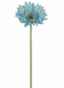 Artificial Small Silk Gerbera Flower Heads Single Stem Daisy Colourful Flowers