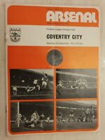 1973/74  Arsenal v Coventry City 1st December, Cup Final Voucher intact