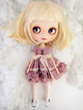 <M-Style>azone/licca/blythe size Doll Handmade flower dress purple