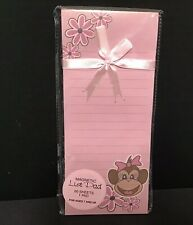 Notepad ~ Kitchen Magnetic Monkey Chimp Notepad Lined Stationery 60 Sheets~ New