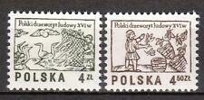 Poland - 1977 Definitives wood carvings - Mi. 2537-38 MNH
