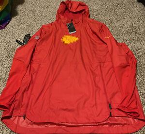 Nike NFL Kansas City Chiefs Repel Windbreaker Hoodie Waterproof Men's Size: 3XL