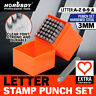"37pc Letter Number Stamp Punch 1/8"" Hardened Steel Metal Wood Leather CrV"