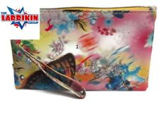 New Ladies Multi Coloured Zip Top And Carry Strap Purses Wallet Present Gift