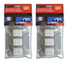 Solid Fuel Stove 2 pack and 6 Esbit Hexamine Cubes Folding Steel Survival Fire